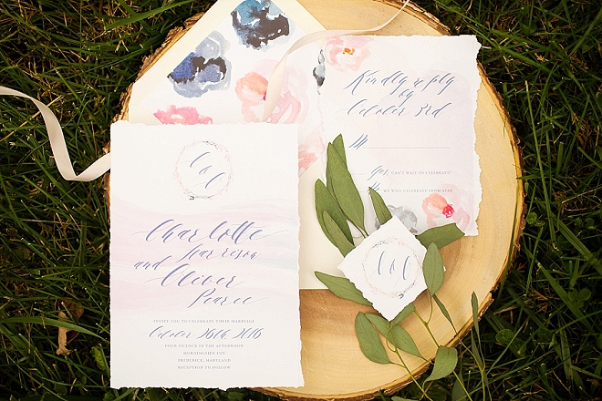 In love with this dreamy watercolor invitation set!