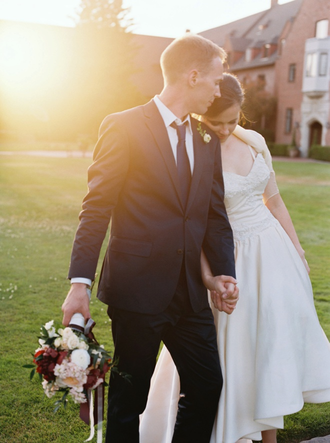 Stunning shot of the bride and groom by Christa Taylor Photography