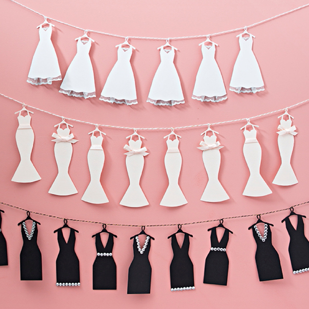 This Mini Wedding Dress Bunting Banner Is Just TOO Cute