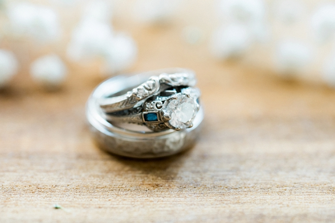 We're loving this bride's vintage ring!