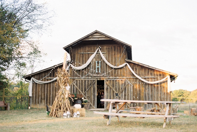 We love this stunning handamde barn reception!