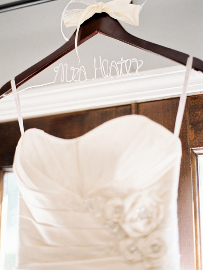 Loving this Bride's stunning dress and the story behind it! Not to mention, that Mrs. hanger!