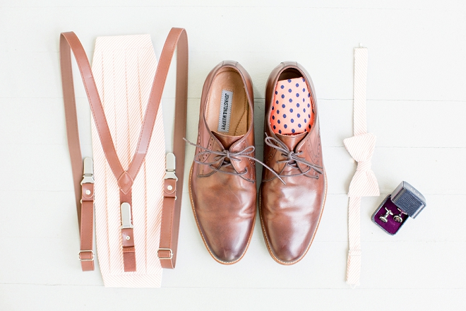 Check out this handsome Groom's wedding day accessories!