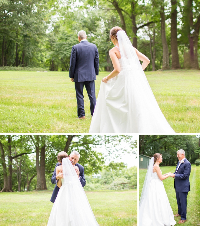 How cute is this Bride's first look with her Dad?! So sweet!
