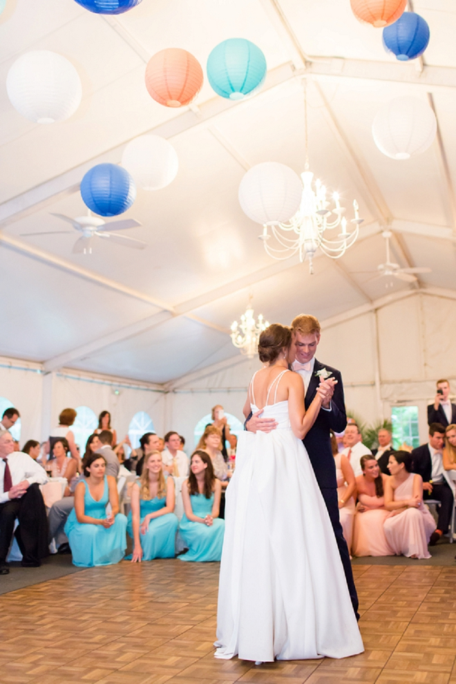 How amazing is this first dance?! We're loving the colorful lanterns!