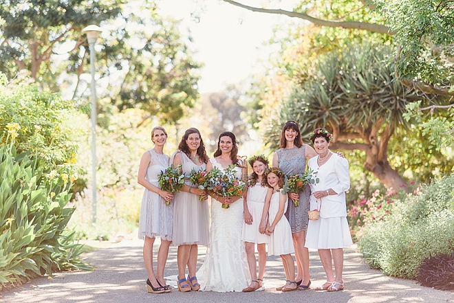 Sweet snap of the Bride and her Bridesmaids before the first look!