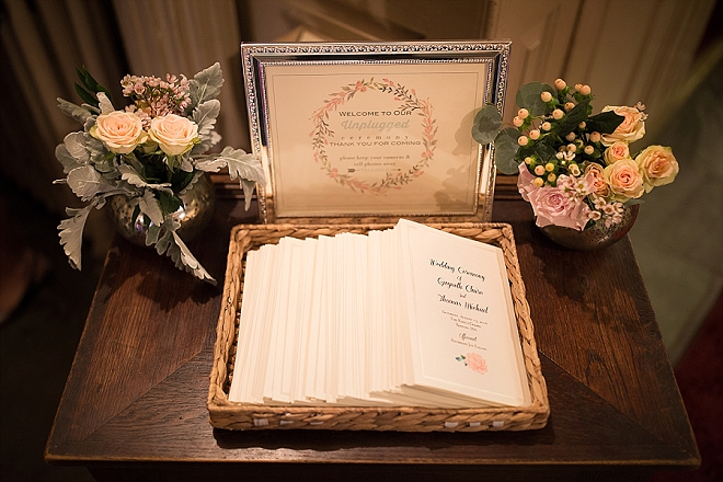 The Bride DIY'd these darling ceremony programs! Don't miss more from this stunning wedding!