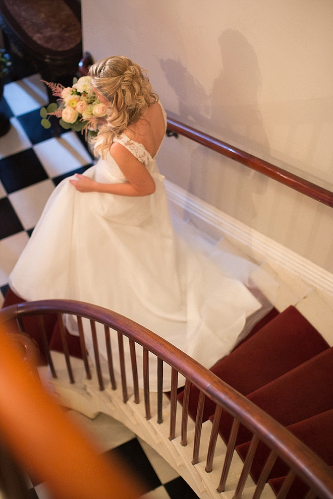 We love this snap of the Bride heading to say I Do!