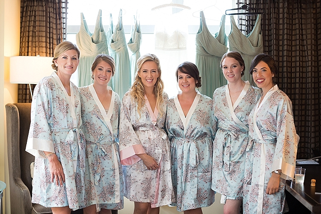 The beautiful Bride and her Bridesmaid's getting ready before the big day!