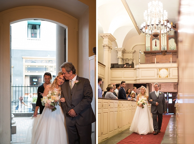 We love this sweet snap of the Bride and her Dad walking down the aisle! Swoon!