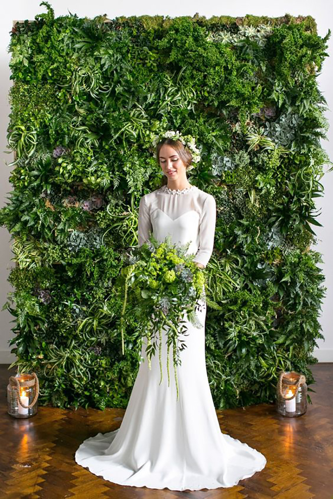 A greenery wall is an amazing statement.