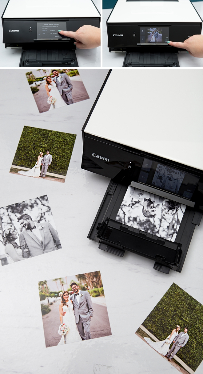 These DIY, printable polaroid style wedding thank you cards are just the cutest!