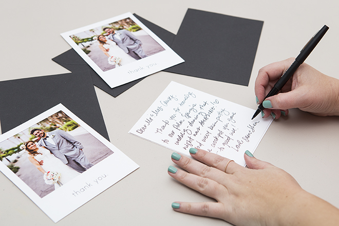 These DIY Printable Polaroid Style Wedding Thank You Cards Are Just The Cutest