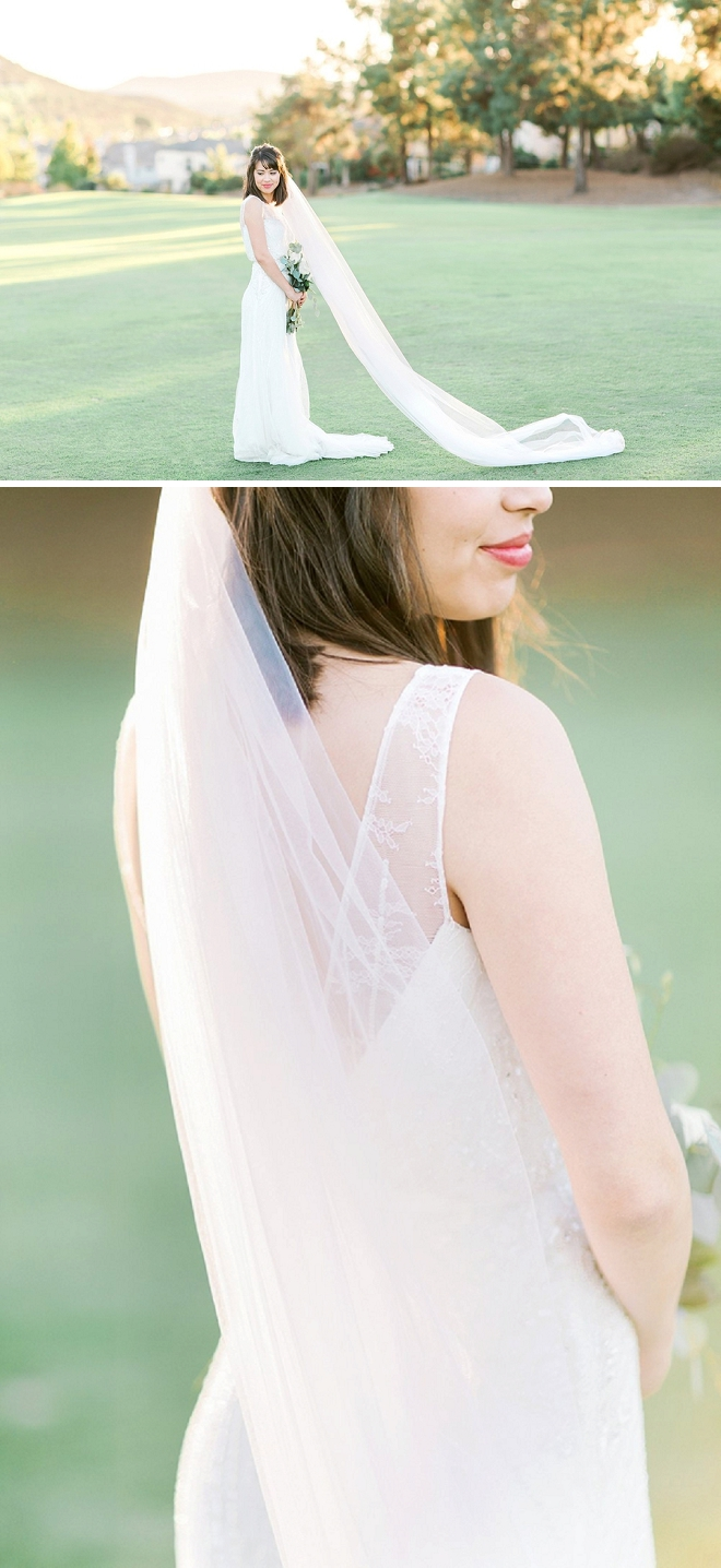 Swooning over this Bride's stunning wedding day style!