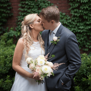 We're crushing on this darling couple and their handmade day!