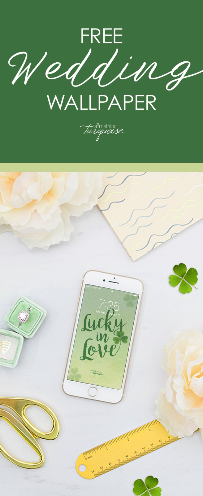 How cute is this free Lucky in Love iphone wallpaper!?