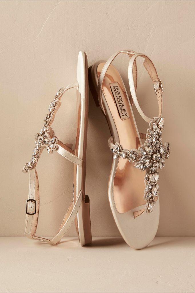 2017 Wedding flats: Badgley Mischka Maldiva Sandals