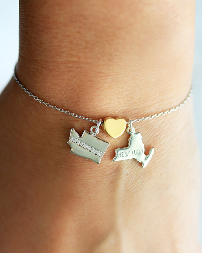State charms are the perfect bridesmaid gift.