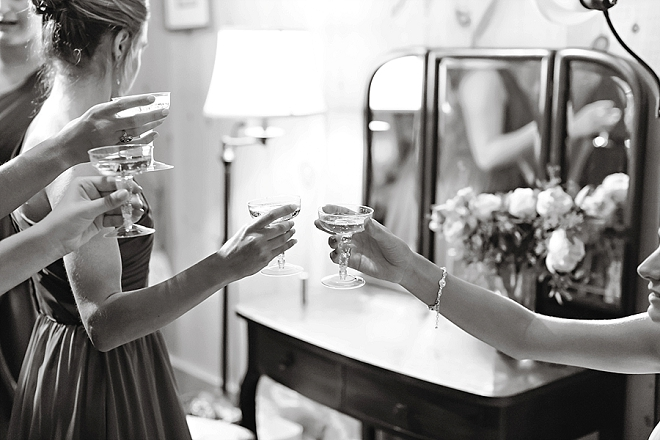 Cheers from the Bride and her Bridesmaids!