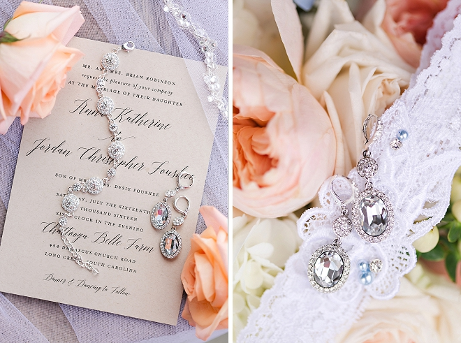 Loving this Bride's dainty wedding day details!