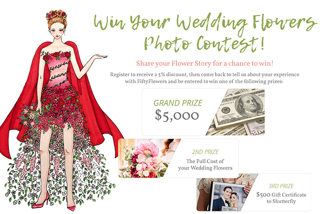 Win your wedding flowers with Fifty Flowers!