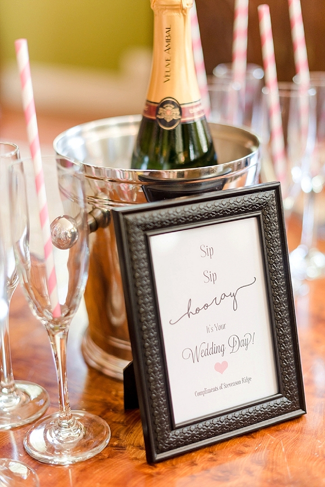 We're loving Sip Hip Hooray sign for getting ready! So cute!