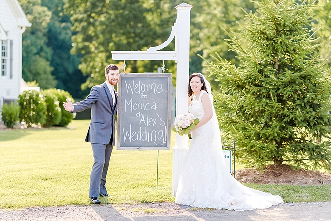 We LOVE this wedding day photo and think every Bride and Groom should do one!