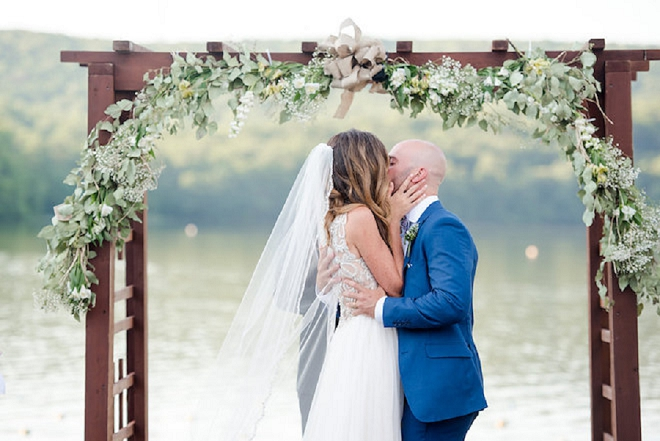 First kiss as Mr. and Mrs!