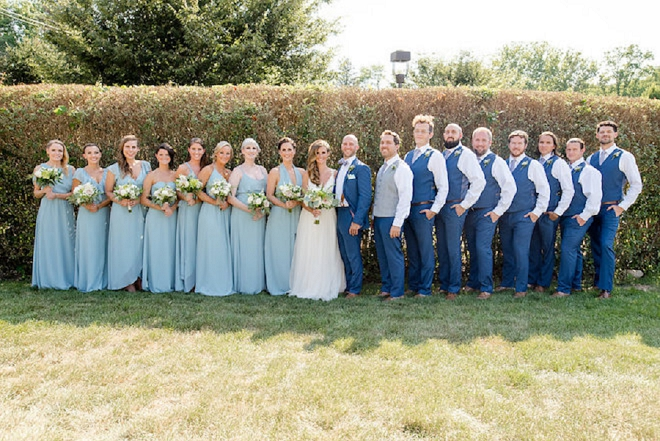 Great snap of the Mr. and Mrs. and their bridal party!