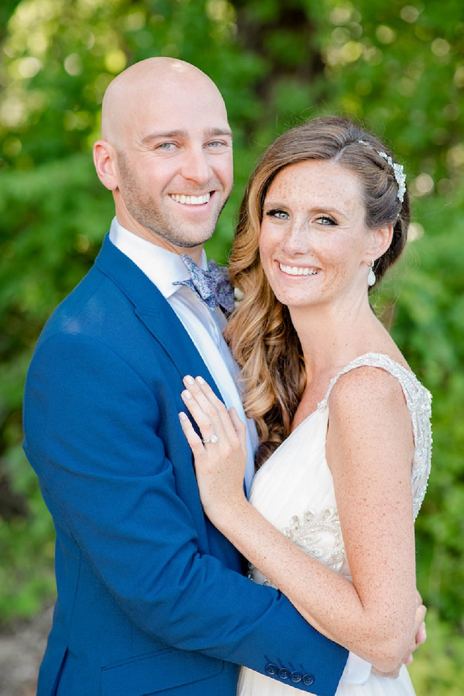 This sweet couple read private vows to each other and we LOVE it!