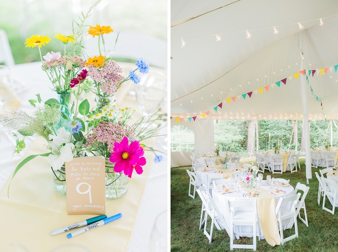 We're loving this couple's darling wedding day details!