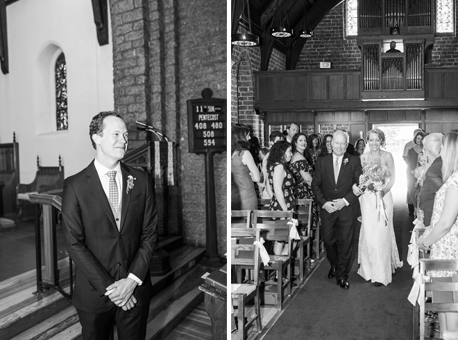 We're swooning over this couple's sweet and traditional ceremony!