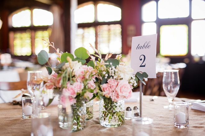 Stunning floral centerpieces at this gorgeous day!
