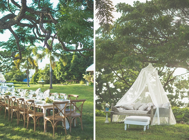We're in LOVE with this destination wedding and their family style reception!