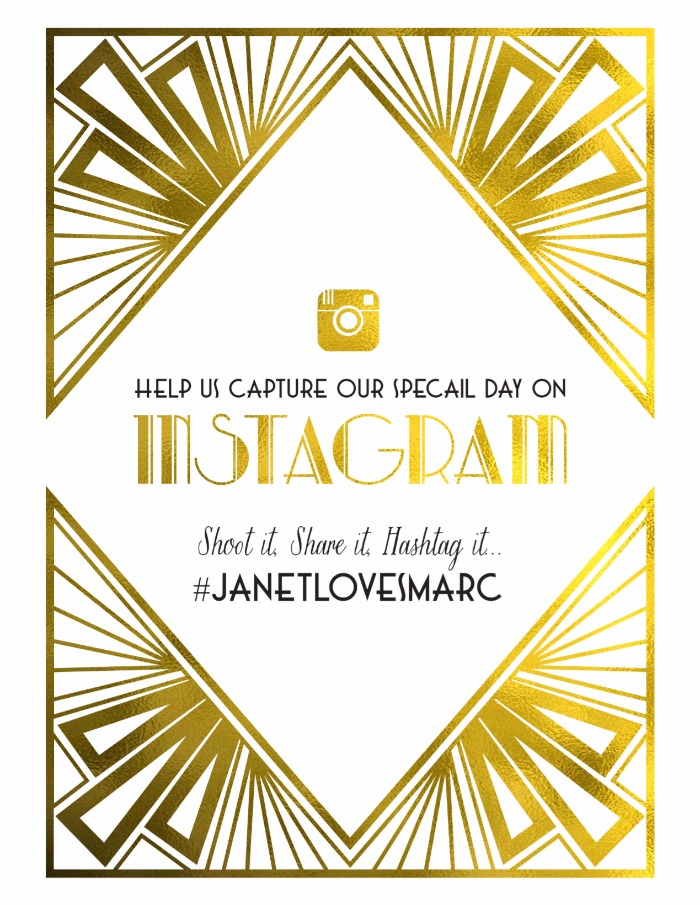 LOVE this art deco wedding Instagram FREE printable.