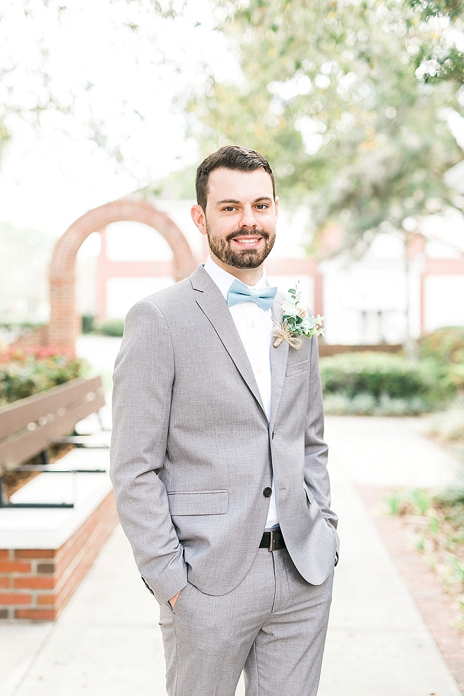 The handsome Groom before the ceremony!