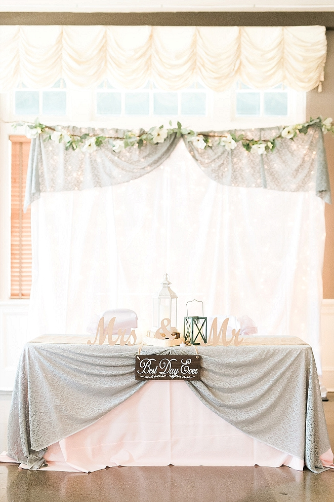 Super cute sweetheart table at this crafty couple's wedding!