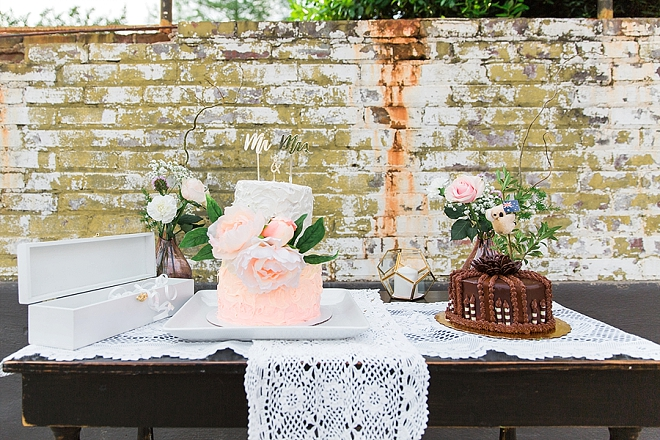 We're loving this couple's darling dessert table!