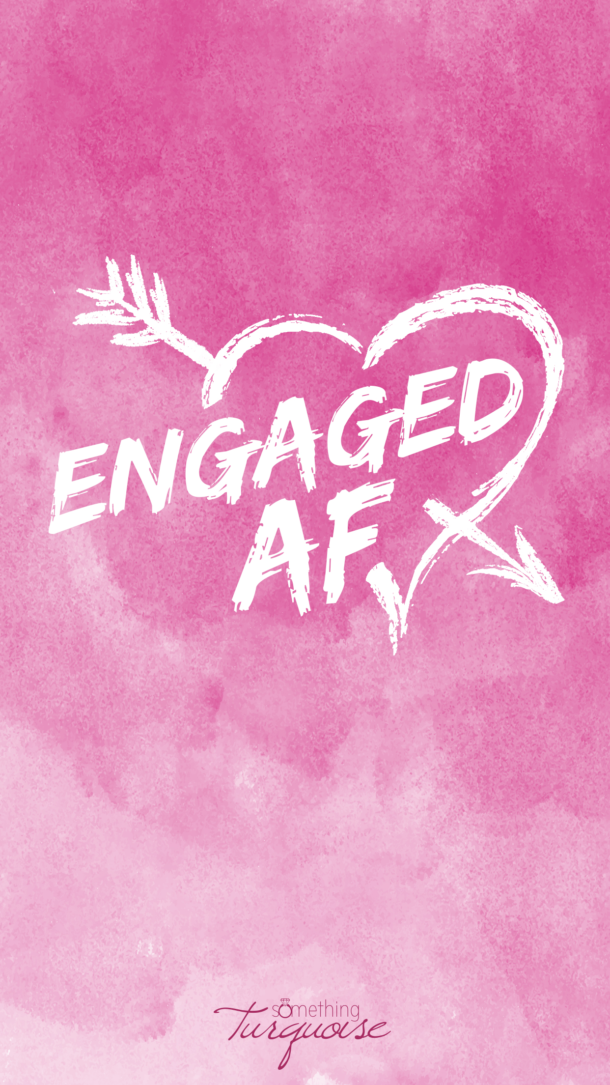 How adorable is this Engaged AF iPhone wallpaper!?