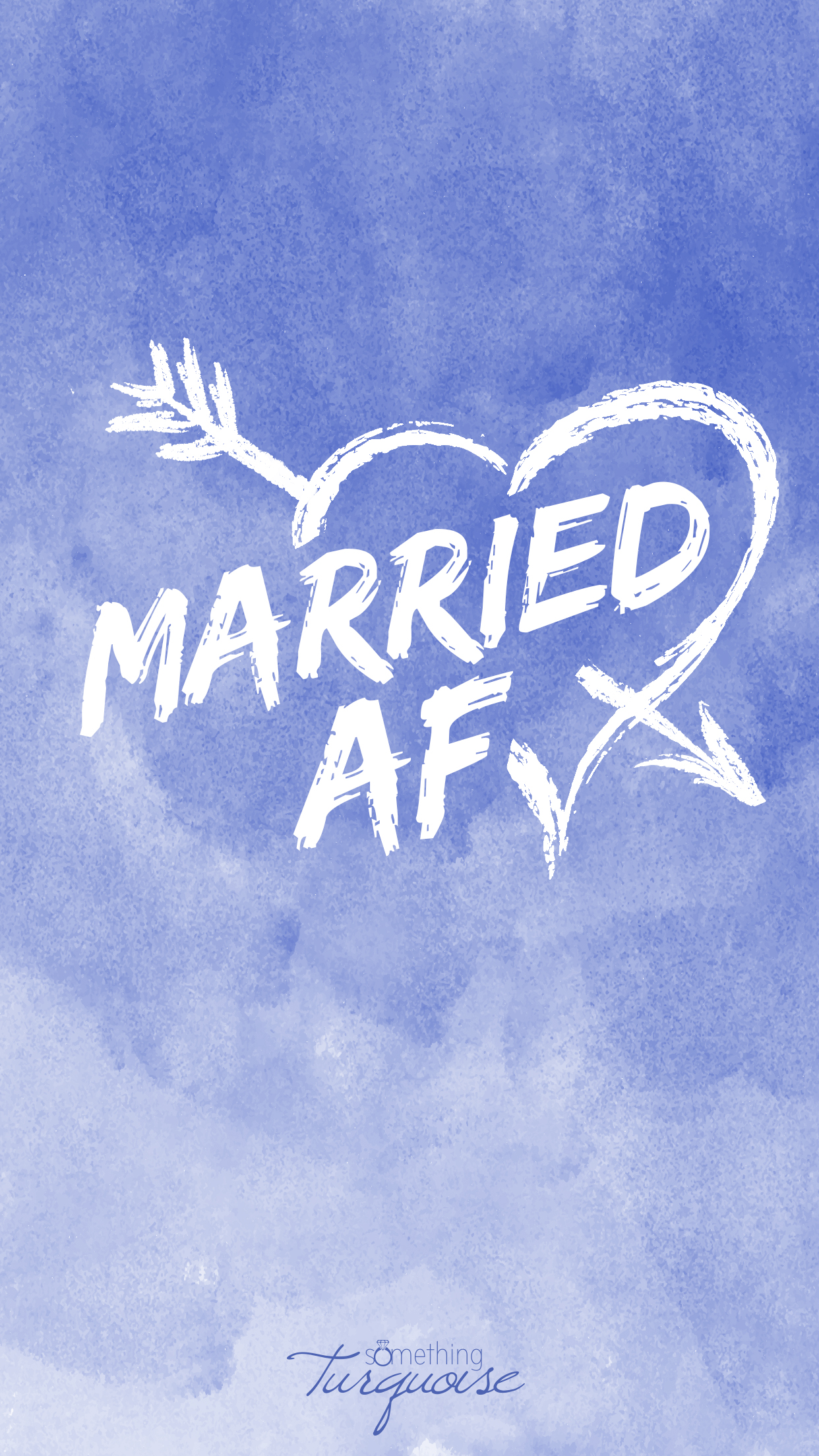 How adorable is this Married AF iPhone wallpaper!?