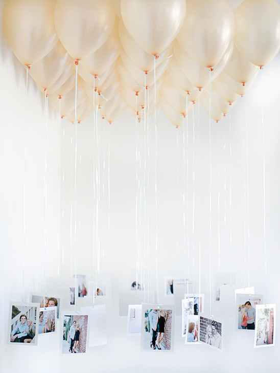 Wedding balloon chandelier or escort cards.  An easy DIY and super affordable.