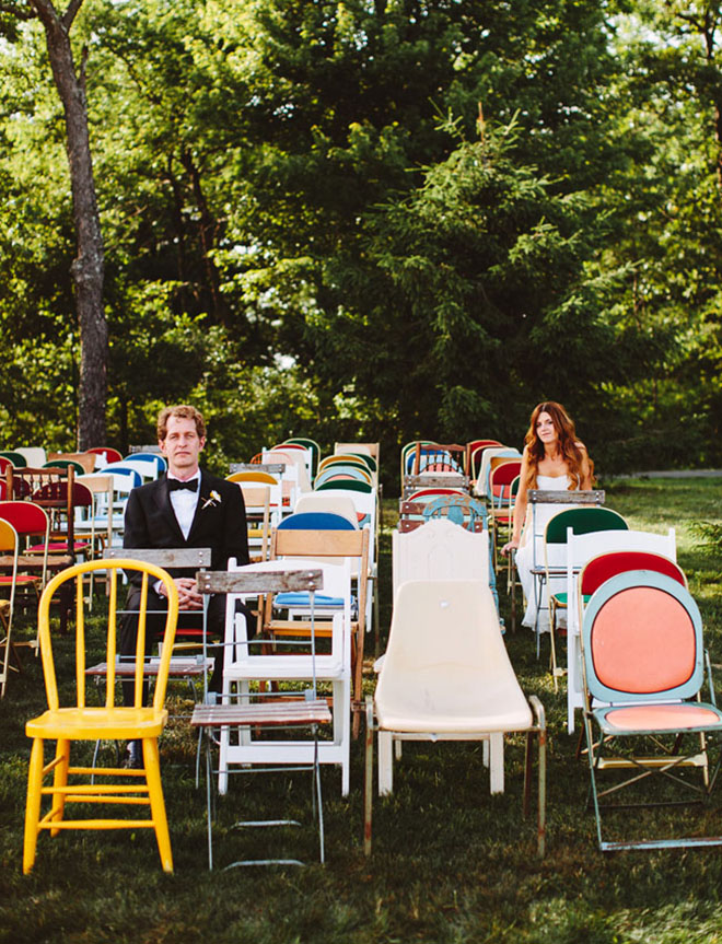 Mix and Match can add a punch of color and quirk to your wedding!