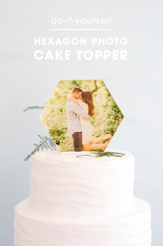 easy diy wedding cake toppers you to see this diy acrylic hexagon photo cake topper 13810