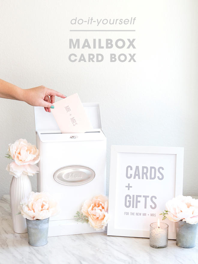 You have to see this adorable diy mailbox card box for weddings how darling is this diy mailbox wedding cardbox solutioingenieria Choice Image
