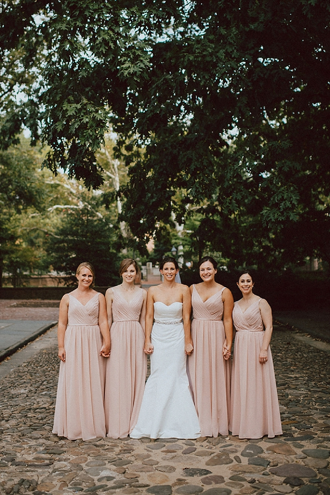 Stunning Bride and her Bridesmaid's before the ceremony!