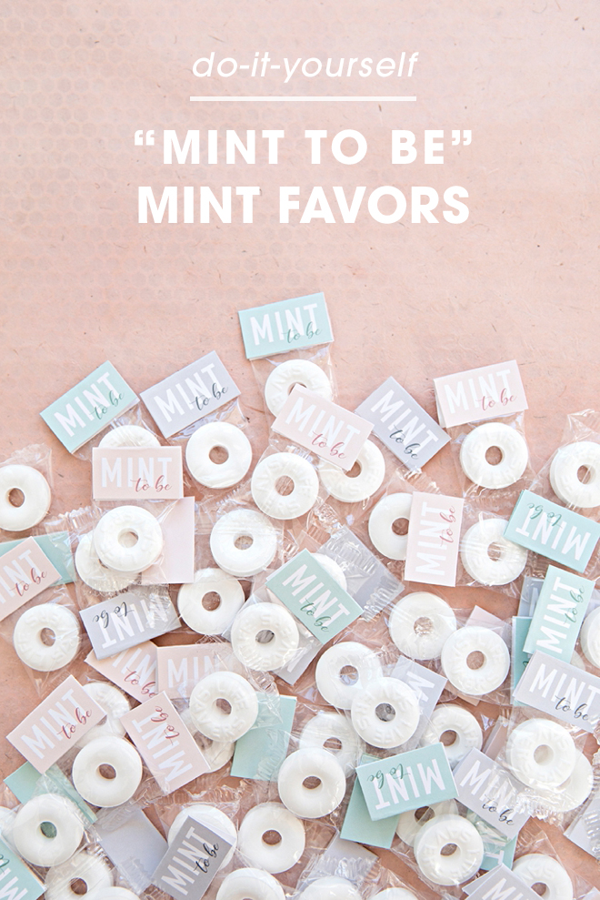 These DIY mint to be favors are to die for!