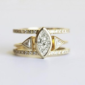 Modern Stackable Engagement ring