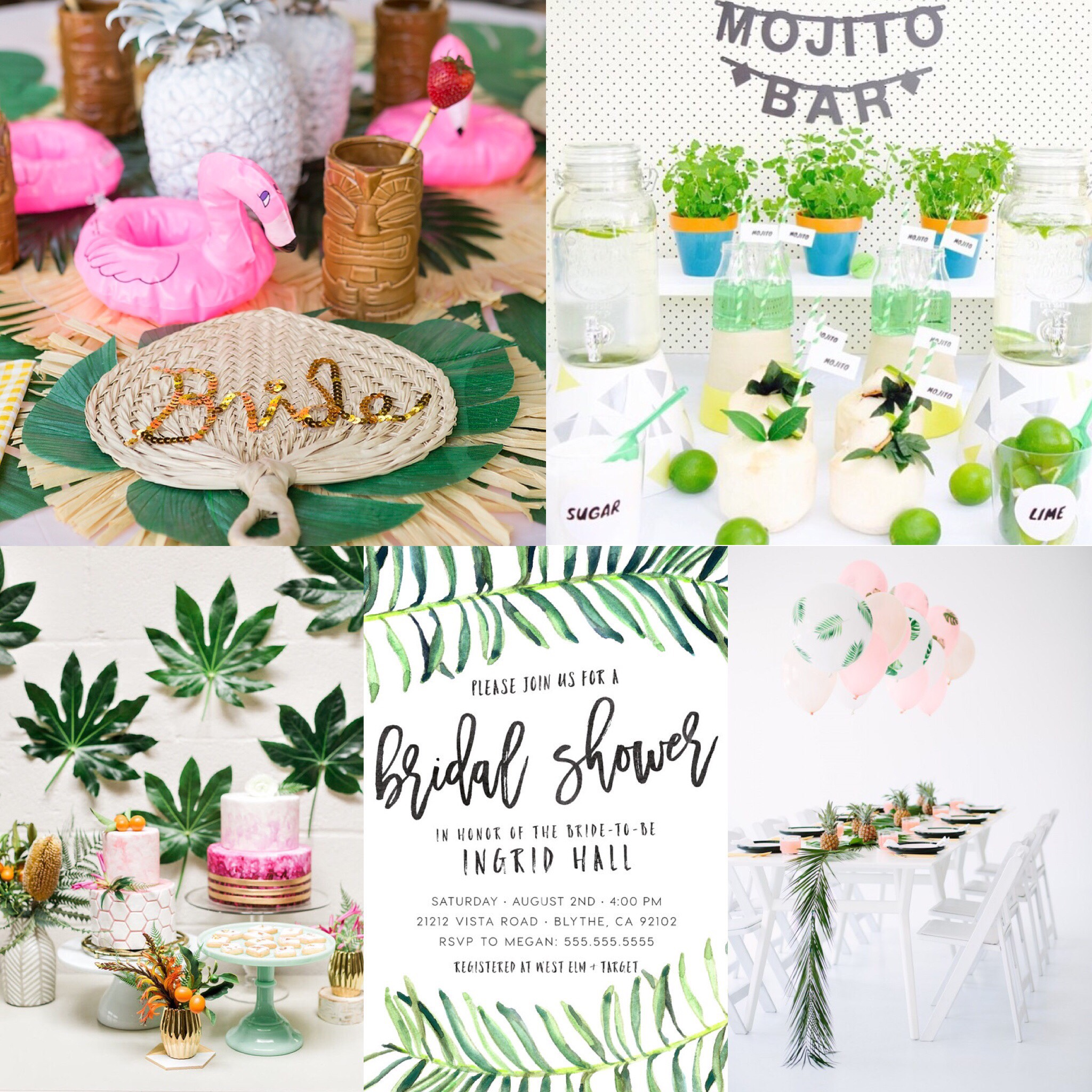 Gorgeous palm springs themed bridal shower inspiration