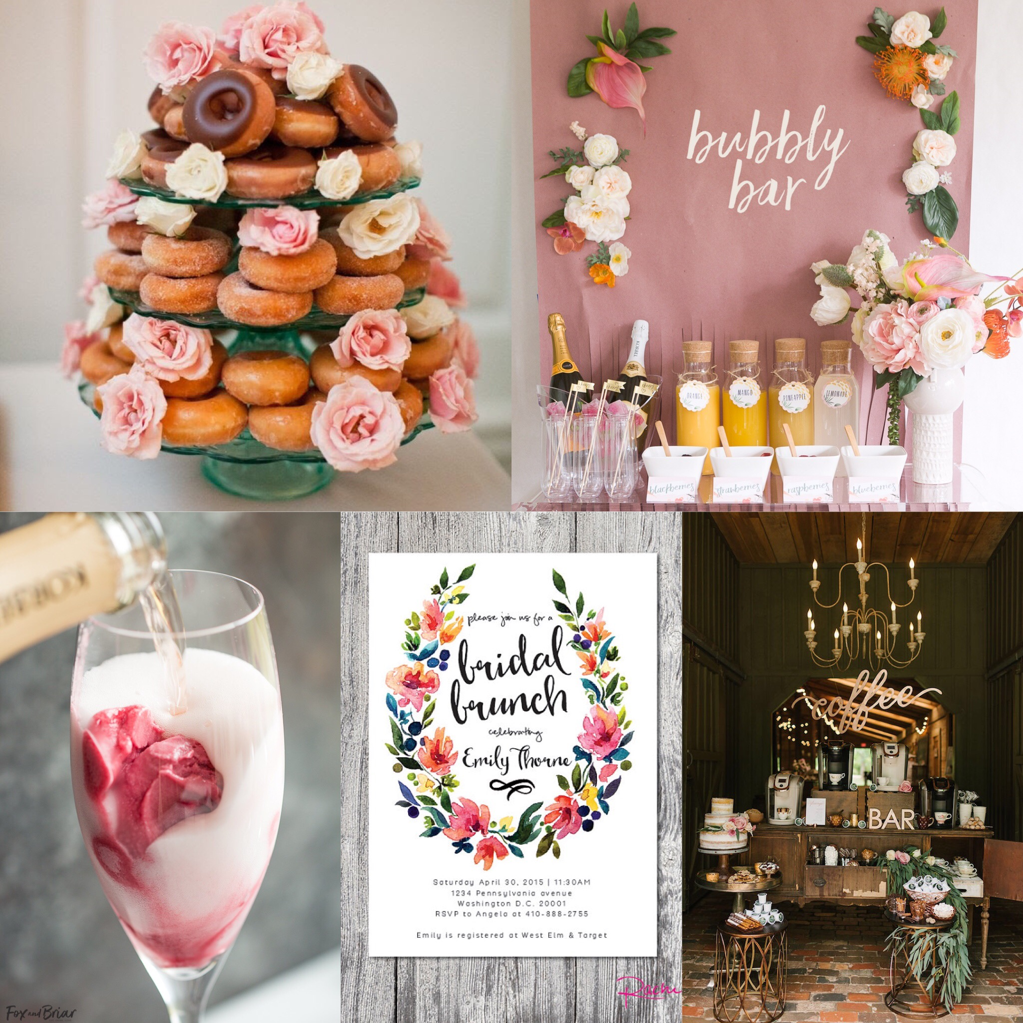 Gorgeous bridal shower brunch theme inspiration