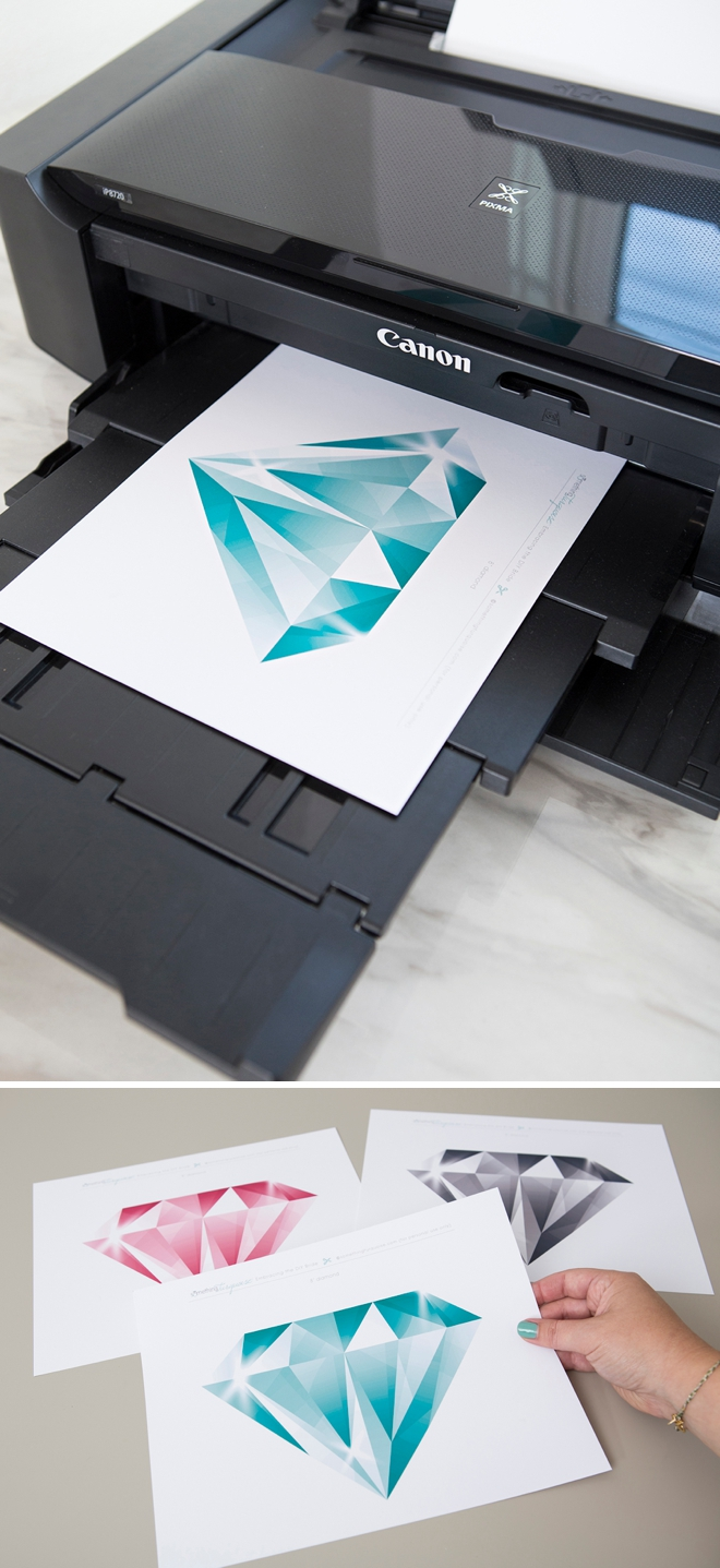 Print this large diamond with your Canon iP8720 crafting printer!